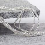 Zdjęcie - Hematyt kulka fasetowana platerowana white silver