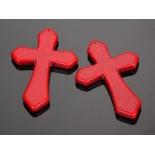 Zdjęcie - Howlit krzyż zawieszka czerwony