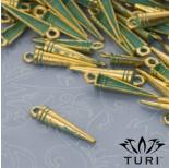 Zdjęcie - Zawieszka szpikulec w złotym kolorze z patyną
