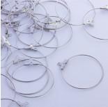 Zdjęcie - Baza do kolczyków koło odpinane ze stali chirurgicznej srebrny