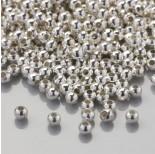 Zdjęcie - Kulki gładkie w kolorze srebrnym