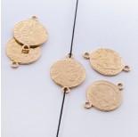 Zdjęcie - Srebrna moneta łącznik Liberty pozłacana