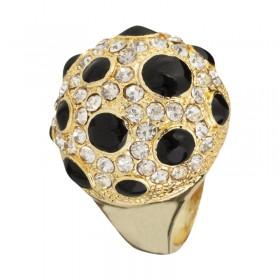 Zdjęcie - Pierścień black dots kolor złoty