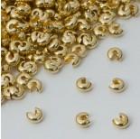 Zdjęcie - Crimp cover  gładki w kolorze złotym