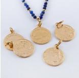 Zdjęcie - Srebrna moneta zawieszka Liberty pozłacana