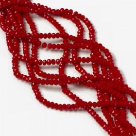 Zdjęcie - Kryształki oponki fasetowane porcelain red
