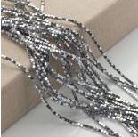 Zdjęcie - Hematyt platerowany kostka ścięta srebrna