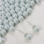 Zdjęcie - 5818 round pearl do kolczyków pastel blue