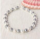 Zdjęcie - Perły majorka kulki miksowane srebrno-białe
