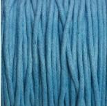 Zdjęcie - Sznurek bawełniany woskowany niebieski