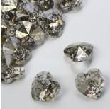 Zdjęcie - 6228, heart pendant, SWAROVSKI, gold patina