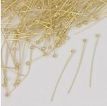 Zdjęcie - Szpilki z okrągłą główką w kolorze złotym