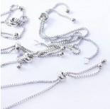 Zdjęcie - Baza bransoletki z łańcuszka z silikonowym stoperem ze stali chirurgicznej srebrny