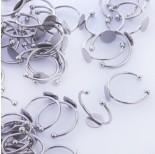 Zdjęcie - Baza pierścionek ze stali chirurgicznej talerzyk srebrny