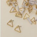 Zdjęcie - Kolczyki trójkąty wycięte
