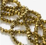 Zdjęcie - Kryształki oponki metalic gold