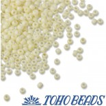 Zdjęcie - Koraliki TOHO Round Opaque-Pastel-Frosted Egg Shell