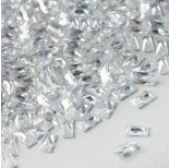Zdjęcie - Cyrkonia bagieta fasetowana z dziurką crystal