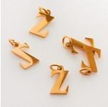 Zdjęcie - Zawieszka ze stali chirurgicznej literka Z złota